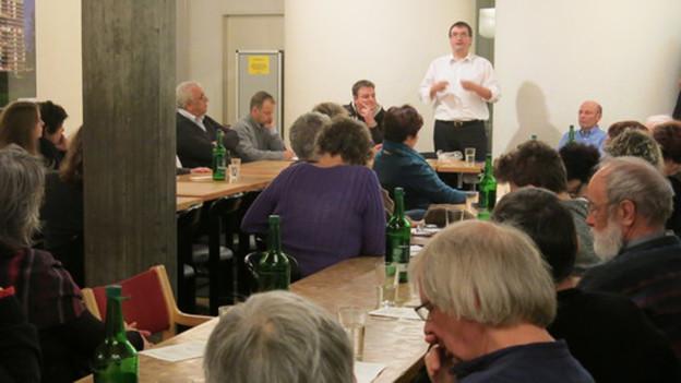 Der SP-Parteichef spricht seinen Genossen in Bern West Mut zu.