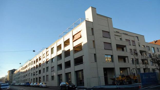 Die neue Wohnüberbauung an der Schwarztorstrasse 102 bis 110.