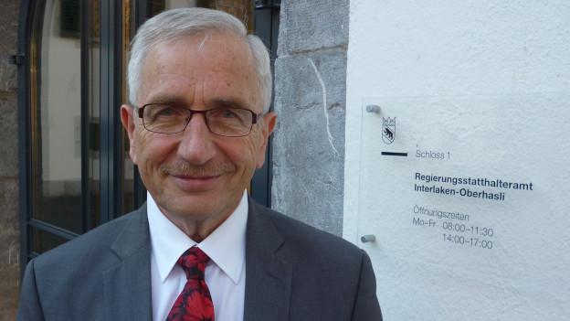 Nimmt nach 26 Jahren den Hut: der Berner Oberländer Regierungsstatthalter Walter Dietrich
