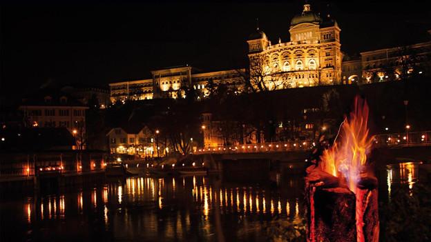 Die Pontoniere Bern kreieren eine besondere Stimmung an der Aare.