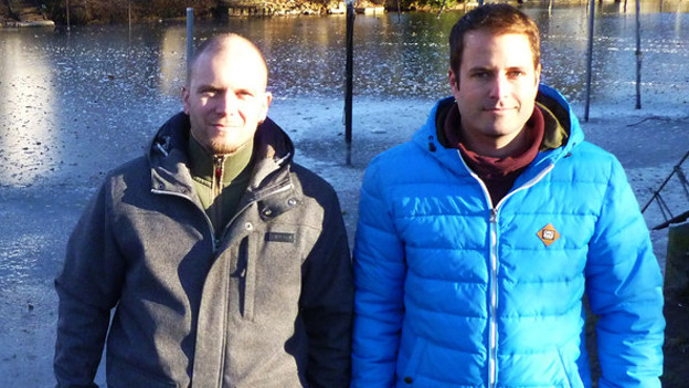 Lachenkanal: Hier haben Martin Wittwer (l.) und Christof Baumann im Sommer eine Frau aus ihrem Auto gerettet