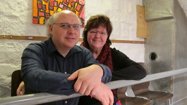 Andreas und Ruth Grossenbacher im Zytglogge-Theater in Bern.