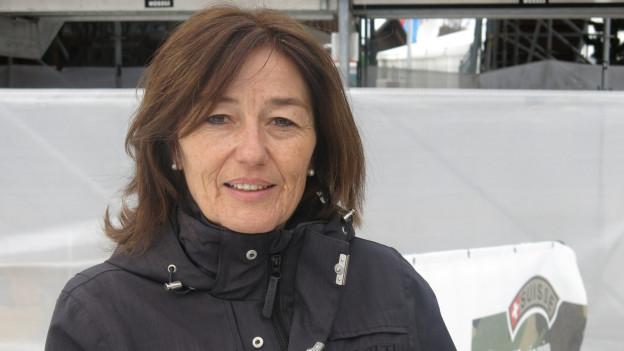 Kathrin Hager, Geschäftsführerin der Weltcup-Rennen von Adelboden, hat viel zu tun.