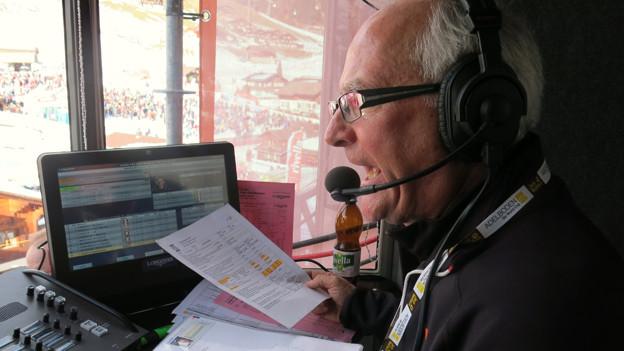 Sepp Odermatt kommentiert in vier Sprachen.