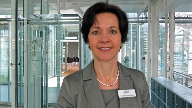 Die Direktorn der GIBB: Sonja Morgenegg.