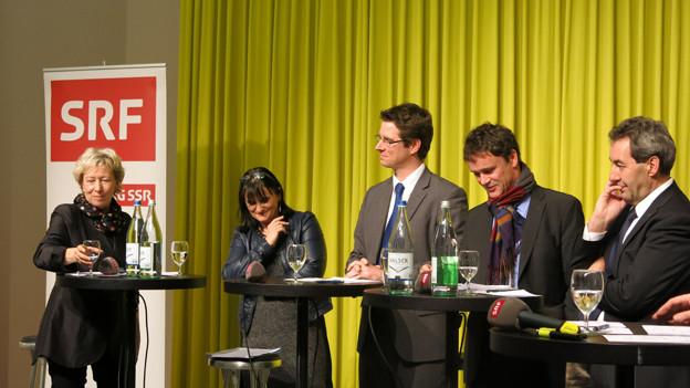 v.l.: Elisabeth Zäch, Christine Häsler, Lars Guggisberg, Philippe Müller und Heinz Siegenthaler.