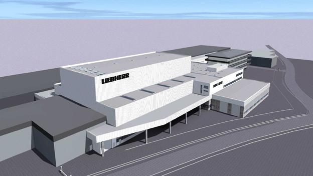 Das Modell der neuen Halle in Bulle.
