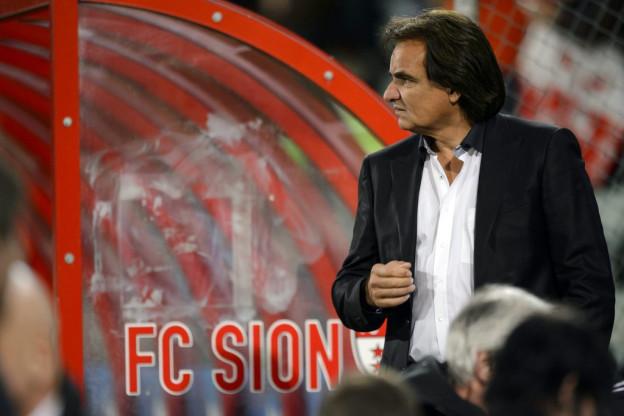 Christian Constantin bei einem Spiel seines FC Sion.