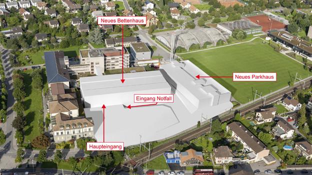 So soll das Spital in Burgdorf künftig aussehen.