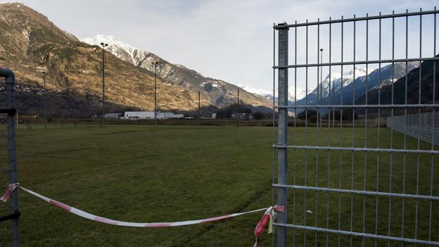 Verseuchter Boden im Wallis, der in die Deponie kommt.