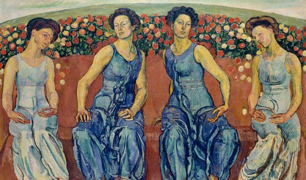 Dieses Bild von Ferdinand Hodler ist auch zu sehen in der Ausstellung.