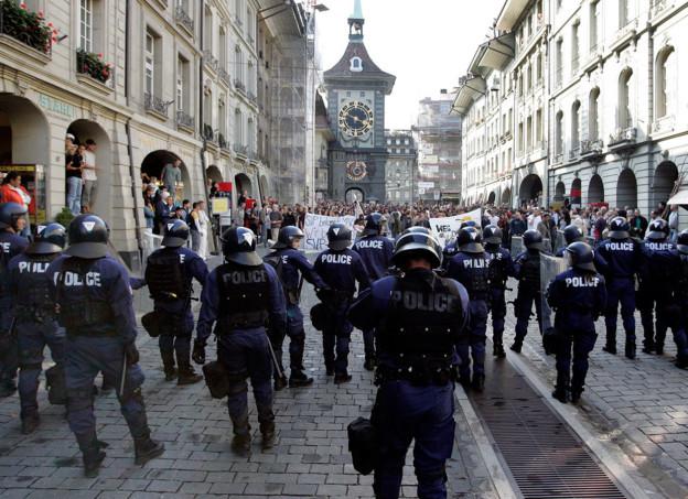 Die Kantonspolizei erwartet wegen den Demonstrationen einen Grosseinsatz.