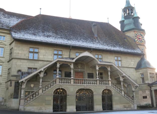 Das Freiburger Rathaus.