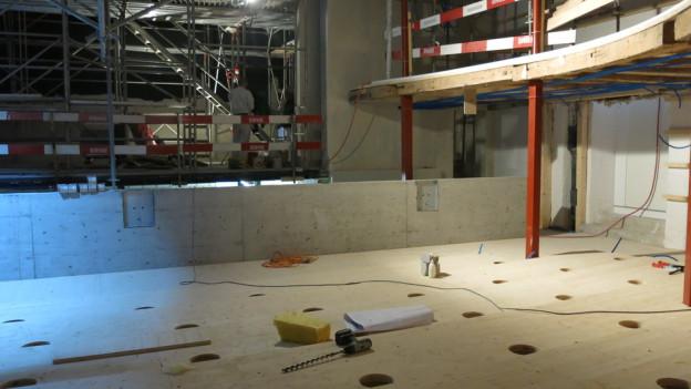 Das Stadttheater Solothurn ist derzeit eine Grossbaustelle. Wiedereröffnet wird es im Januar 2015.