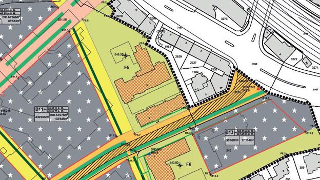 Ausschnitt aus der neuen Überbauungsordnung für das Berner Inselspital. Links im Bild steht heute das Bettenhochhaus.