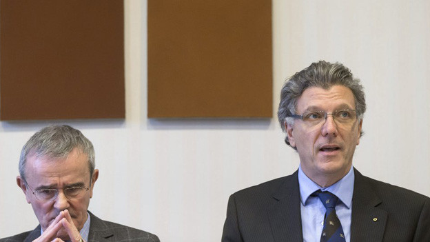 Thomas Schäublin und Matthias Frehner vom Kunstmuseum Bern.