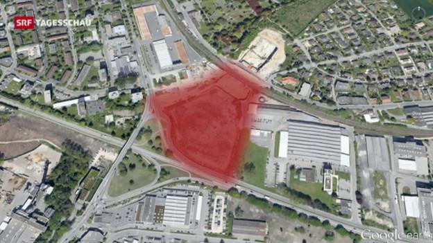 Hier fand man radioaktives Material: in der ehemaligen Deponie Lischenweg in Biel