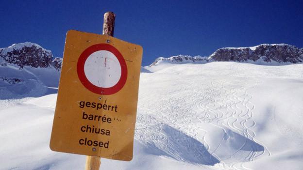 Lawinensperre im Gebirge: Wer es missachtet, ist verantwortlich