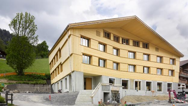 Die neue Jugendherberge in Gstaad.