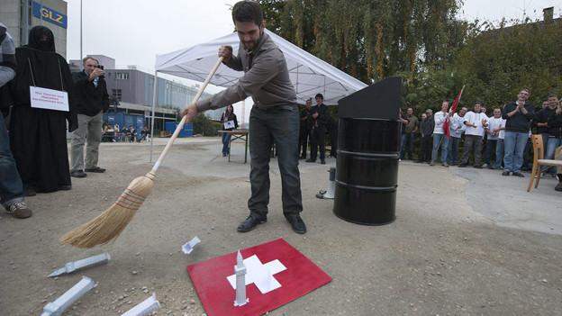 Der Auslöser des Prozesses: Eine Veranstaltung in Langenthal.