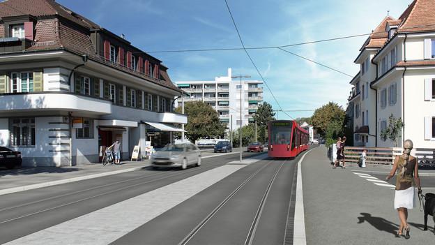 So sehen die Pläne für das neue Tram Region Bern aus.