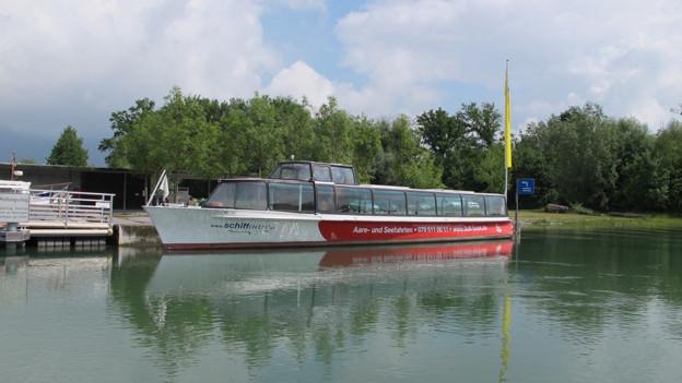 Die Aareschifffahrt wird übers Wochenende eingestellt.