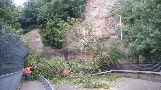 Die Brücke von Freiburg nach Bürglen war rund 24 Stunden gesperrt.