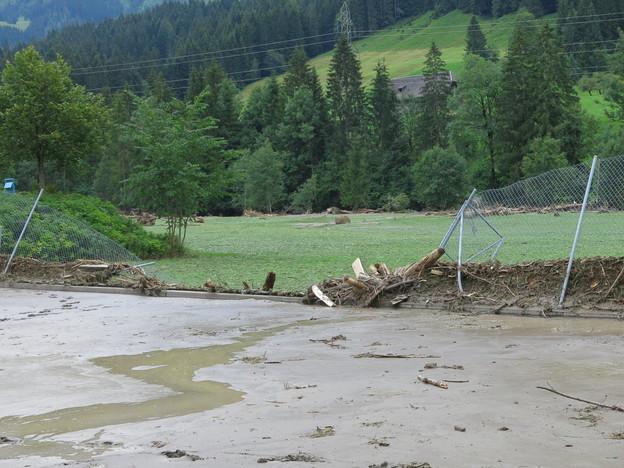 Schäden nach dem Unwetter vom Donnerstag im Bumbach