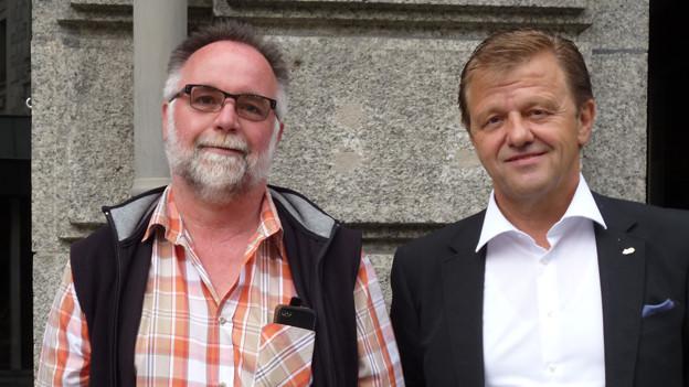 Christoph Gysel (links) und Bruno Ruppen haben viel zu erzählen über Johann Josef Imseng.