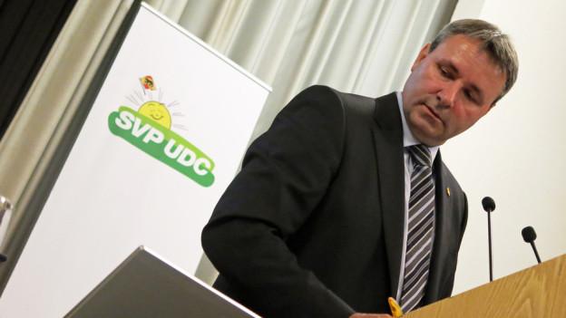 Es ist unklar, ob der bernische SVP-Präsident Werner Salzmann für den Ständerat nominiert wird.