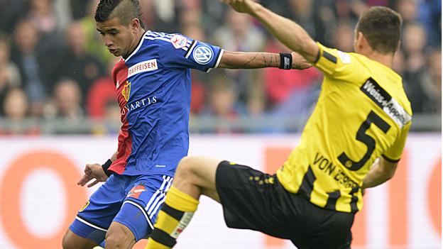 FC Basel trifft und Berner YB kämpft.