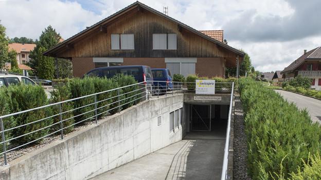 Das Asylzentrum in Riggisberg ist in der Zivilschutzanlage.