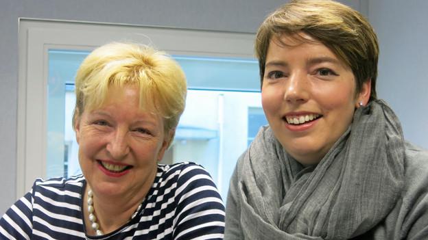 Annemarie Wildeisen und Florina Manz.
