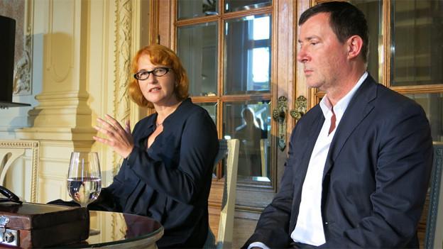 Die neue Schauspieldirektorin Stephanie Gräve neben Direktor Stephan Märki.