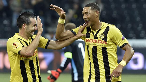 Das freut die Young-Boys: 5:0-Sieg gegen Bratislava.