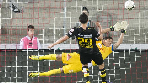 Muzzolo trifft in Sion zum 1:0 für YB.