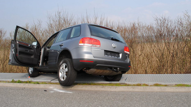 Das gestohlene Fahrzeug, auf das der Polizist im April 2010 geschossen hatte