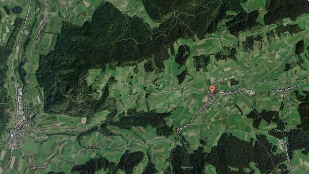 Linden bei Oberdiessbach aus Satellitensicht.