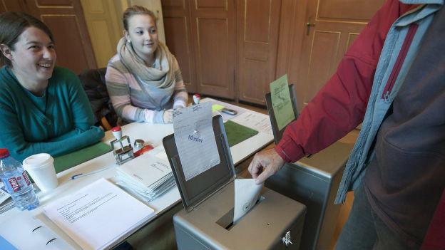 Wahllokal in Bern.