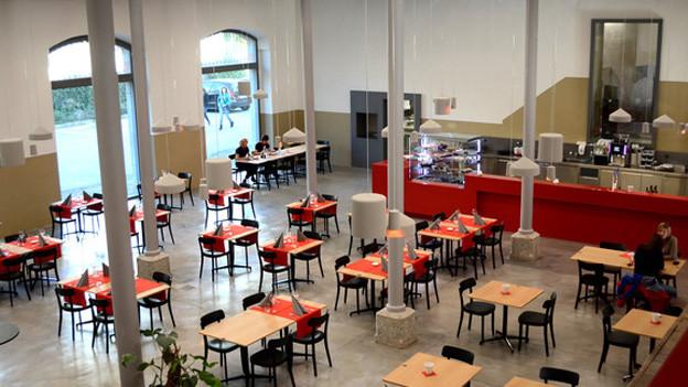 Das neue Ausbildungsrestaurant in der Mediathek in Sitten.