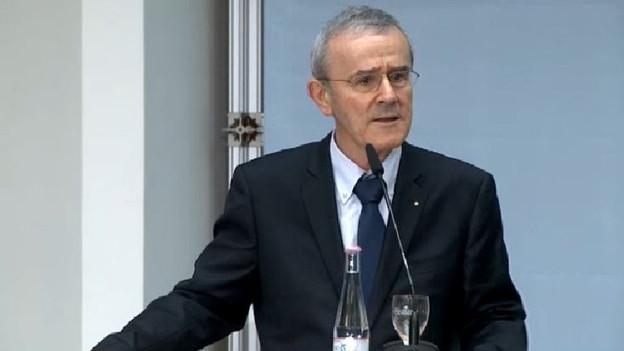 Stiftungspräsident des Kunstmuseums Bern, Christoph Schäublin, an der Medienkonferenz in Berlin.