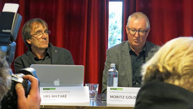 Die Vertreter der Pensionskassen Urs Mataré und Moritz Göldi wollen den Weiterbetrieb des Konzertlokals.