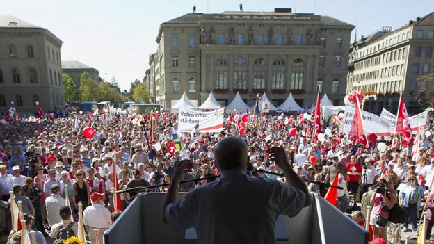 Nächsten Oktober werden auf dem Bundesplatz keine Wahlkundgebungen bewilligt
