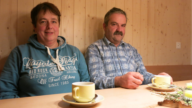 Endlich wieder daheim: Annemarie und Alfred Graf
