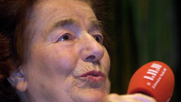 Ruth Im Obersteg Geiser 2001 in einem Radiointerview.