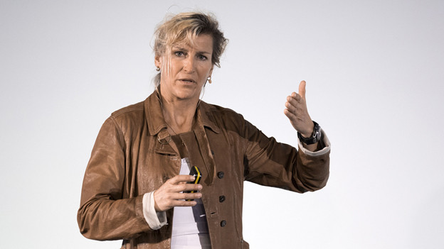 Evelyne Binsack am Alpensymposium.