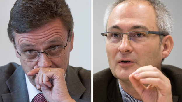 Hans-Jürg Käser (links) und Bernhard Pulver.
