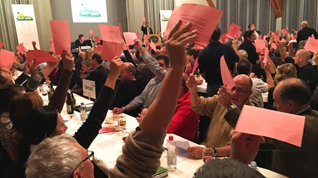 Abstimmung bei der Berner SVP.
