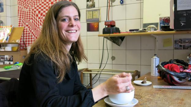 Sonja Riesen im Atelierhaus Progr in Bern.