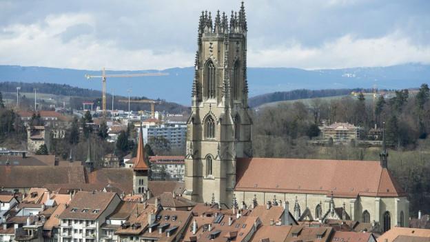 Stadtansicht von Freiburg.